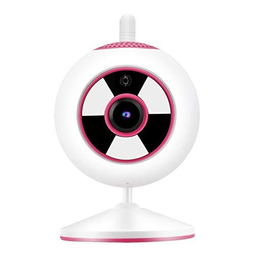 Gerioie Cámara IP, cámara Duradera de Alta definición con Pantalla Clara 1080P 1080P, para el hogar(Pink, European regulations)