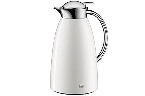 Alfi Gusto Metall 3521211100 Isolierkanne 1 Stück (1 Liter, 17 x 15 x 27.5 cm) Weiß/Alpin Weiß