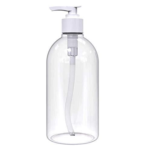 ECOSWAY Lot de 3 bouteilles de shampooing rechargeables 500 ml avec pompe pour après-shampoing et huile de massage