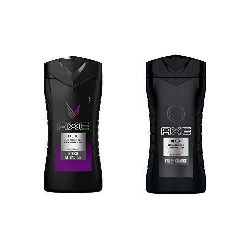 Axe Duschgel Excite 250 ml, 6er Pack (6 x 250 ml) + Axe Duschgel für eine intensive Erfrischung Black, 6er Pack (6 x 250 ml)