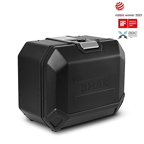 Shad D0TR47100RB Maleta Lateral Derecha TR47R Terra Edition, Black Aluminio