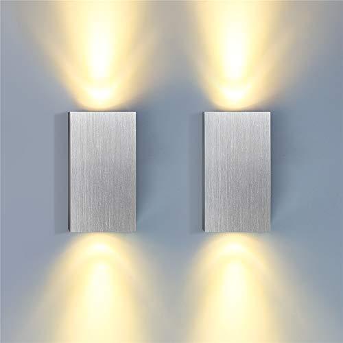 ERWEY 2x 6W LED Wandleuchte Innen Wandlampe Flurlampe Treppenleuchten Deckenleuchte Up and Down Effektlampe