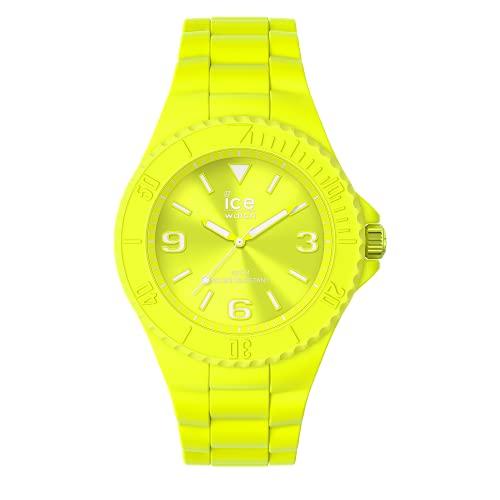 ICE-WATCH ICE Generation Flashy Yellow - Reloj Amarillo para Hombre con Correa de Silicona, 019161 (Medium)
