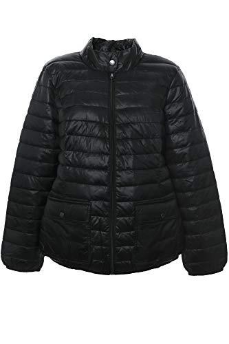 Sheego Steppjacke Outdoorjacke Anorak Parka Wattiert Schwarz Damen Plusgröße, Farbe:schwarz, Damengrößen:48