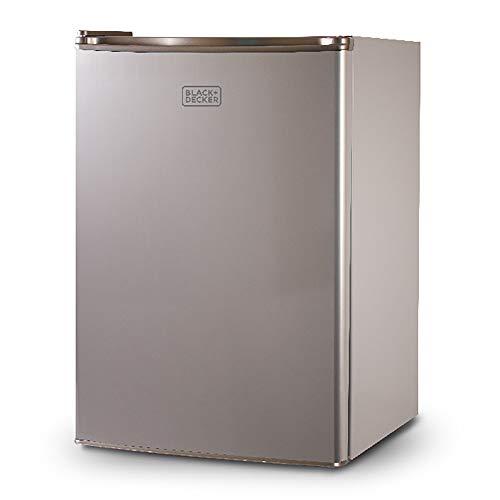 BLACK+DECKER BCRK25V Compact Refrigerator Energy Star Single Door Mini Fridge with Freezer, 2.5 Cubic Ft, VCM