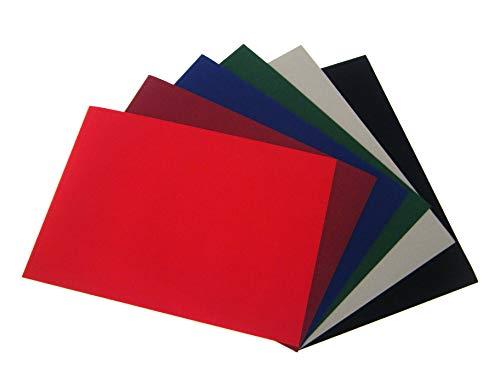 6 Stück selbstklebende Rückseite, A4 Blatt Samt Velours Craft DC Fix Vinyl Aufkleber Multi Farbe