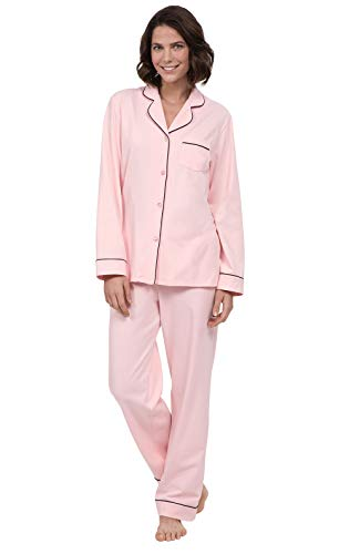 PajamaGram Womens Pajamas Set Soft - Pink Pajamas for Women, Pink, L, 12-14