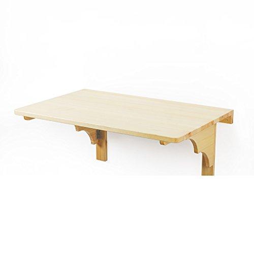 Table pliante pour ordinateur portable mural Table pliante pour petits espaces Table pour ordinateur portable à la maison en pin couleur naturelle (taille : 24\
