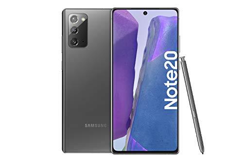 Samsung Galaxy Note 20 Android Smartphone ohne Vertrag Triple Kamera Infinity-O Display 256 GB Speicher starker Akku Handy in grau inkl. 36 Monate Herstellergarantie [Exklusiv bei Amazon]