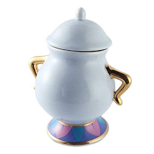 La Bella E La Bestia Mrs Potts Ceramica Con Placcatura in Oro Teiera Un Set , Set Di Simpatici Regali Di Natale 1 zuccheriera