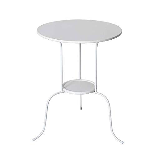 HYAN Nordic Simple Coffee Table Creative Dormitorio Sofá Mini Mesa Redonda Mesa Moderna Mesa Minimalista Pequeña Mesa (Metal)