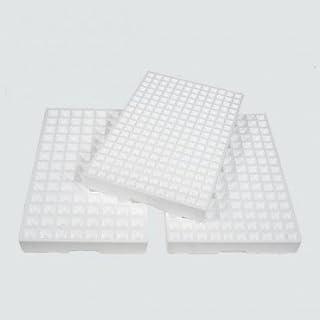 Pack de 8 Semilleros de Corcho Blanco para 104 Plantas, bandejas de germinación de Semillas de pórex.