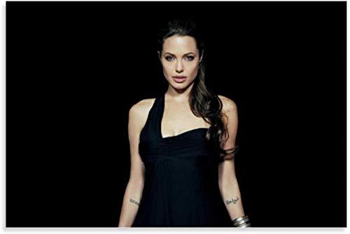 PóSter Y Estampados 60x90cm Angelina Jolie Tomb Raider Lara Croft Decoración para el hogar contemporánea Lienzo Pintura Pared Arte Cuadros Sin Marco