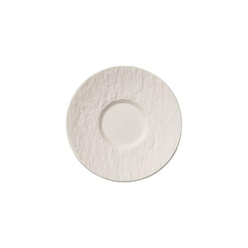 Villeroy & Boch Manufacture Rock Blanc Sous-tasse à mokka/expresso, 12 cm, Porcelaine Premium, Blanc