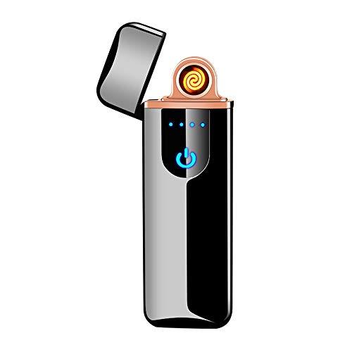Lafagiet USB-Feuerzeug, elektronisches Fingerabdruck-Feuerzeug, wiederaufladbar, winddicht, flammenlos, Plasma-Bogen, Küche, Kerzenfeuerzeug (austauschbarer Wolframdraht)