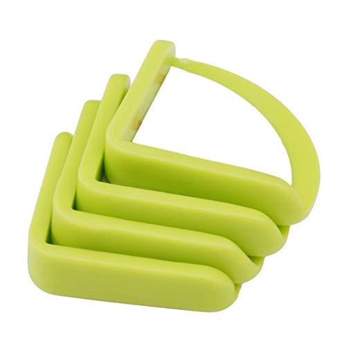 JOOFFF 4 Stück Tischeckenschutz Kindersicherheitsschutz Eckenschutz Dunstabzugshaube Anti-Kollisionswinkel Säuglingsschutz Abdeckung Silikon Tischecke, grün