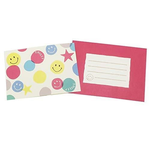 スマイリー[手紙セット]レターセット/Colorful Smile Smiley Face