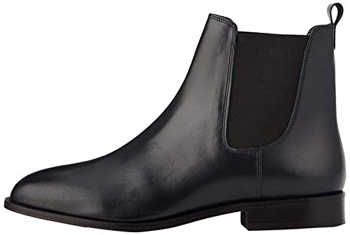 find. Leather Chelsea Boots, Blau Navy), 40 EU
