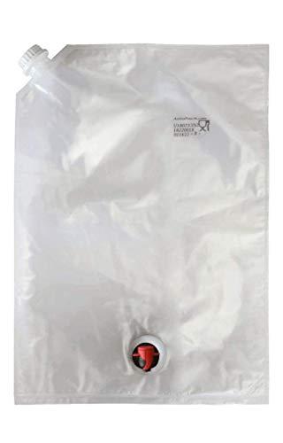 10L Easy Fill Bag-in-Box Bags - BYOB - 2-Pack of Dual Spout BIB Bags - REFILLABLE, REUSABLE, BPA FREE! Quick and Easy Filling Through Top Screw Cap