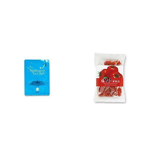 [2点セット] ひのき炭黒泉 スパウォーターフェイスマスク(18ml×3枚入)・朝どり 塩とまと甘納豆(150g)