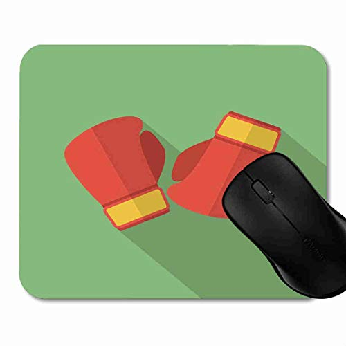 Mauspad Sport-rote Kampf-Boxhandschuhe flach Rutschfeste Gummi Basis Mouse pad, Gaming und Office mauspad für Laptop, Computer PC 1H1514