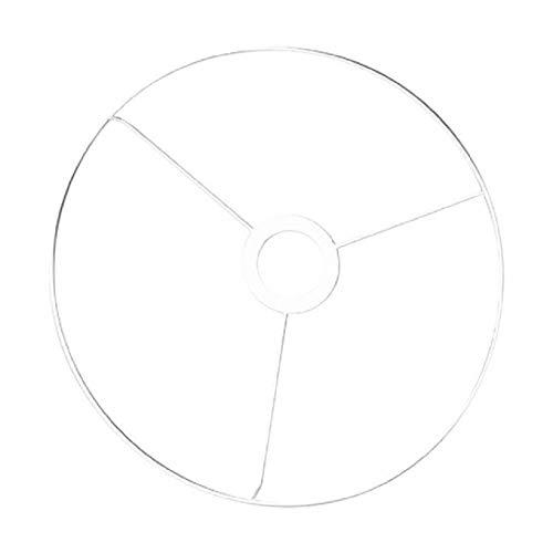 Rayher 2300100 Metallring mit Kreuz, 30 cm ø, weiß beschichtet, Stärke ca. 3 mm, Drahtring zum Basteln von Lampenschirmen, mit Ring für E27 Lampenfassung