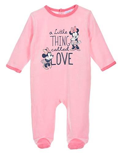Pijama – Dors bien terciopelo para bebé niña Disney Minnie rosa y crudo de 6 a 24 meses rosa 18 meses