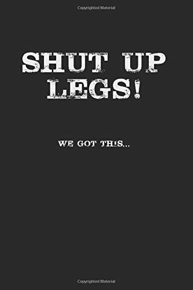 明るいピストン廃止Shut Up Legs We Got This: Running Notebook, Dotted Bullet (6