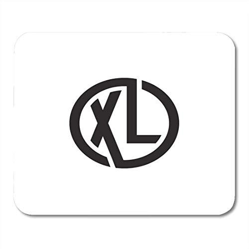 25X30cm Gaming Mauspad Mouse Mat Abzeichen Schwarz XL Anfangsbuchstaben Looping Linked Circle Monogram Alphabet Brand