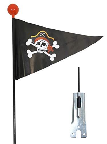 Red Loon Fahrradwimpel Pirat Sicherheitswimpel Fahrrad Fahne Flagge Fähnchen Verdrehschutz Wimpel