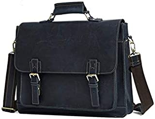 حقيبة ظهر للرجال من Chliuchihjklstb، حقيبة يد جلدية للرجال حقيبة كتف حقيبة جلدية (اللون: أزرق)