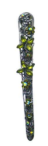 Cristal Pince crocodile décoré avec des pierres Nm86110–1
