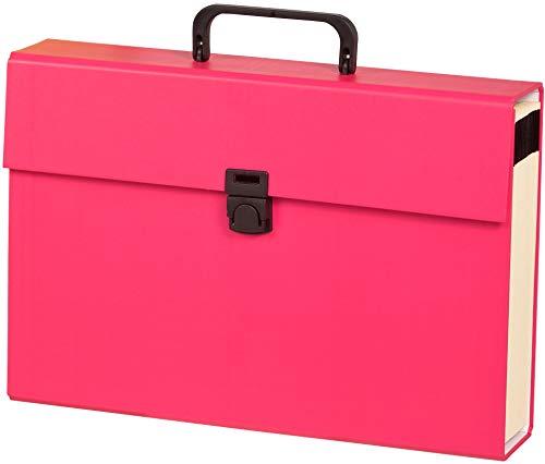 Carchivo - carpeta archivador acordeón tipo maletín de cartón con 20 departamentos, color fucsia