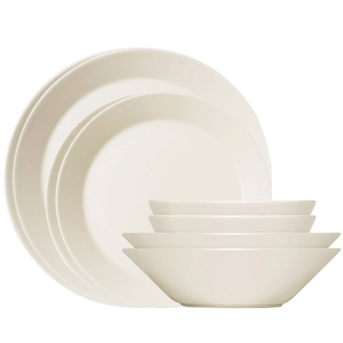 Iittala Teema Assiettes apero - 8 Pieces Creme One Size
