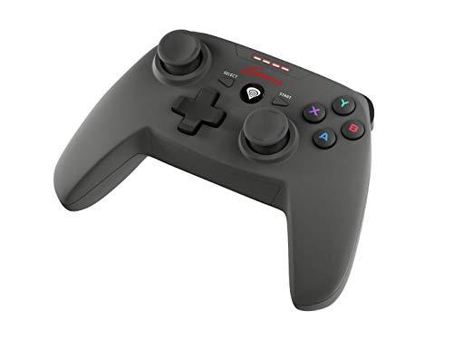 Wireless Kabellose Gamepad Controller für PS3 und PC Computer Genesis PV58, USB, X-Input und D-Input - Vibrationsfunktion, Analogsticks, Schwarz