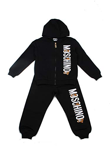 Moschino Junior trainingspak voor kinderen, zwart, model HK014DL0060100, model HK014DL00