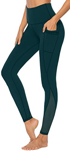 Persit Yoga Leggings Damen, Sporthose Yogahose Sport Leggins Tights für Damen Dunkelgrün-Size 40/42 (Herstellergröße:L)