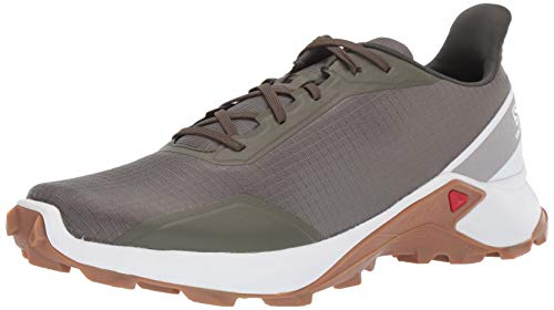 Salomon ALPHACROSS, Zapatillas de Trail Running para Hombre, Verde (Grape Leaf/White/Gum1a), 48 EU