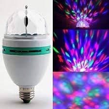 Haven's treasure® 360 Degree LED Crystal Rotating Bulb Magic Disco LED Light LED Rotating Bulb Light Lamp for Party/Home/Diwali Decoration,.