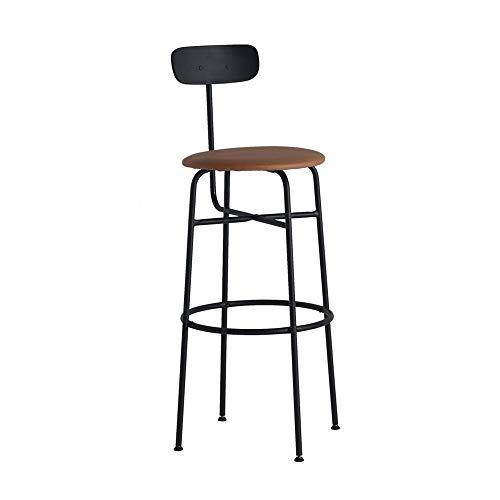 PU-stoel, eetkamerstoel, loungestoel met kussentje, solidee, smeedijzeren benen, comfort, rugleuning voor eetkamer, woonkamer, slaapkamer, werkkamer