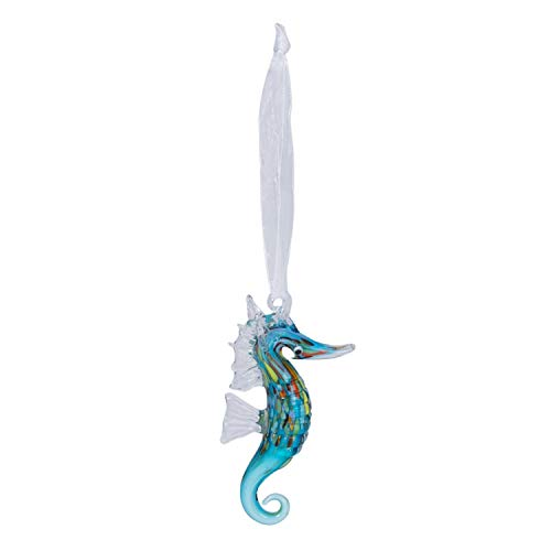 Beachcombers Glass Seahorse Hanging Figurine Ornament