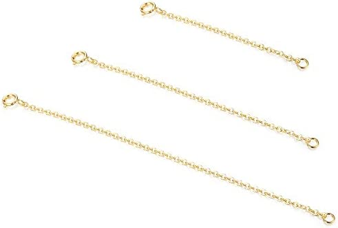Sllaiss 3 Pieces 925 Sterling Silver Pendant Necklace Bracelet Anklet Chain Extenders for Necklace product image