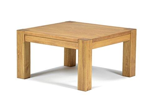 Naturholzmöbel Seidel Couchtisch,Rio Bonito, 80x80cm Höhe 50 cm, Pinie Massivholz, geölt und gewachst, Wohnzimmer Tisch Farbton Honig hell