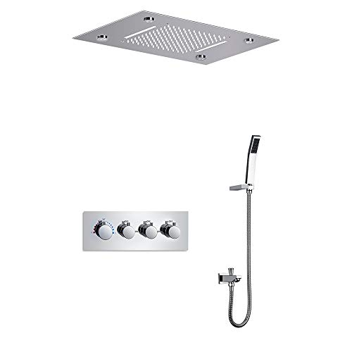 Bathroom Products Multi-function Temperature Control LED Light Shower Faucet Large Flow Constant Temperature Multi…