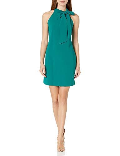 Vince Camuto Women's Halter Bow Neck Dress, Green, 10