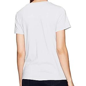 Calvin Klein Jeans Women's Short Sleeve Heritage Logo T-Shirt, White Wash, Medium