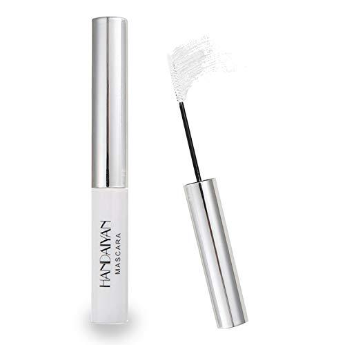 GL-Turelifes 12 Color Mascara Bunte Fasermascara Charmante, langlebige Mascara mit dicken und langen Wimpern, wasserdicht und wischfest (Weiß)