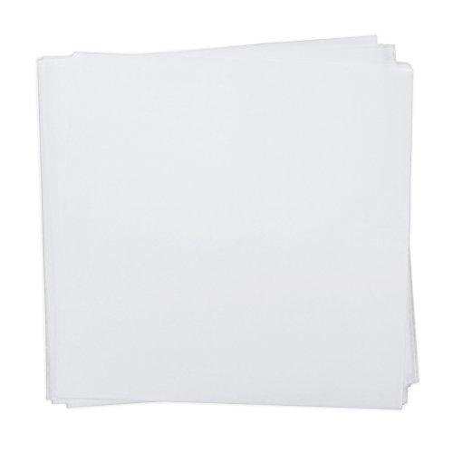 Dry Wax Paper Deli Wrap and Basket Liner (25, White 12x12)