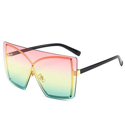 MEAOR Gradient Sonnenbrillen Damenmode Monokel Sonnenbrillen Rahmenlose übergroße Rahmen Damen Sonnenbrillen Uv400 Brille