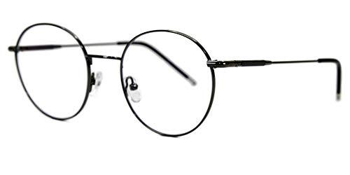 Clatè Brille mit blauem Licht für PC, Smartphone, Tablet, Fernseher, Gaming | Antireflex, kratzfest, 100% UV | Anti-Ermüdungs-Gläser, Erholungsbrille, Rahmen aus robustem und superleichtem Metall Grau